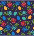 flower seamless pattern for happy easter day vector image vector image