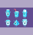 funny milk containers set milk packaging vector image vector image