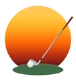 Golf club and a ball vector image vector image