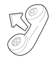 Handset icon outline style vector image vector image