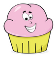happy cupcake vector image