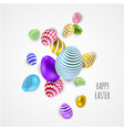 happy easter background design template vector image