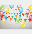 happy holiday concept color ballons and flags and vector image vector image