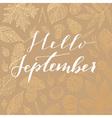 hello september card vector image vector image