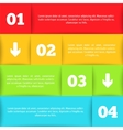 Infographic template for your design vector image