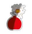 isolated ball bomb vector image