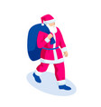 isometric christmas santa claus vector image vector image