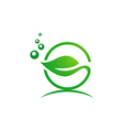 leaf bio organic nature logo vector image vector image