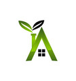 letter a eco home vector image vector image