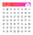love line icons set vector image