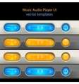 Media player control elements vector image vector image