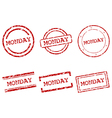Monday stamps vector image vector image