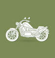 motorbike side view graphic vector image vector image