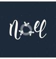 Noel handlettering modern inscription Lettering vector image