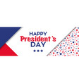 presidents day greeting card vector image vector image