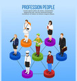 professional occupation isometric concept vector image