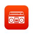recorder icon digital red vector image vector image