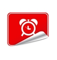 Red sticker clock vector image vector image