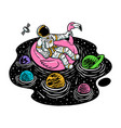 relax in universe pool vector image vector image