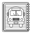 School notebook with bus drawing