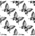 seamless pattern flying butterflies vector image vector image