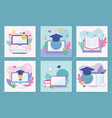 set cards school education online image vector image