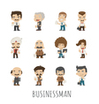 Set of businessman eps10 format vector image vector image