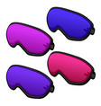 set of colorful sleeping masks from relax isolated vector image