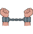 Shackles on his hands vector | Price: 1 Credit (USD $1)