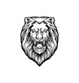 silhouette angry lion clipart vector image vector image