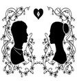 silhouette wedding flourishes 3 vector image vector image