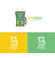 simple gas and oil station fuel gas gasoline vector image