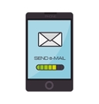 smartphone device mail email text vector image