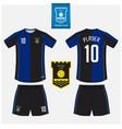 soccer jersey football kit mockup template design vector image vector image