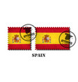 spain or spanish flag pattern postage stamp with vector image vector image
