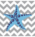 striped pattern with sea star vector image