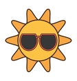 sun funny glasses funny icon vector image