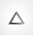 triangle logotype theme vector image vector image