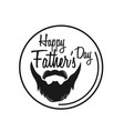 typography poster happy fathers day vector image vector image