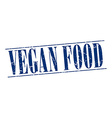 vegan food blue grunge vintage stamp isolated on vector image vector image