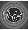 Vintage movie ending screen vector image