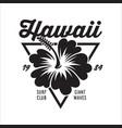 vintage surfing emblem for web design or print vector image vector image