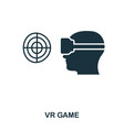 vr game icon mobile app printing web site icon vector image vector image