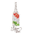 Wine from Italy vector image vector image