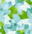 abstract blue mosaic seamless pattern with grunge vector image