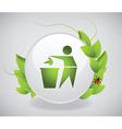 Environmental label vector image