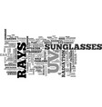 a quick guide to sunglass wear why when and where vector image vector image