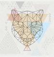 abstract polygonal tirangle animal cheetah vector image vector image