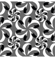 Abstract seamless pattern in black grey white vector image vector image