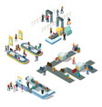 airport isometric compositions vector image vector image